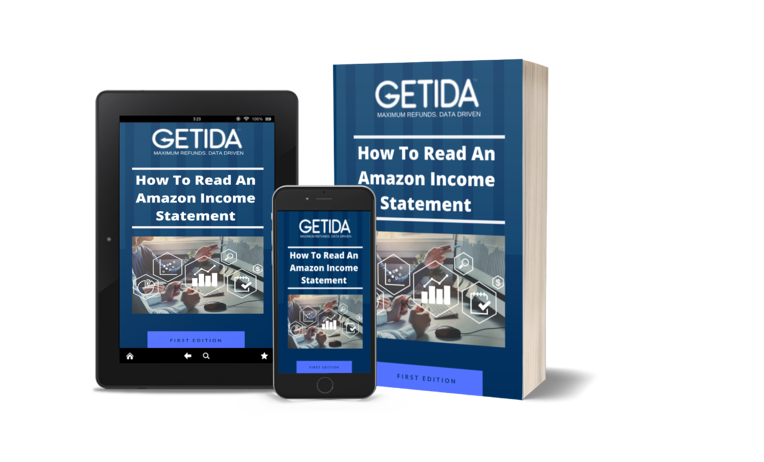 GETIDA - How to read an Amazon income statement - eBook Cover-3D-V2